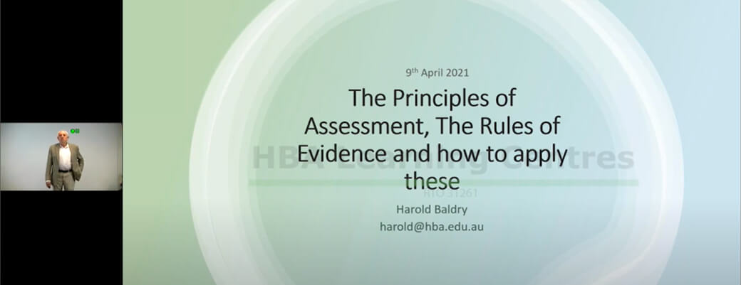 Pd session 1 | the principles of assessment, the rules of evidence and how to apply these pd 1 1